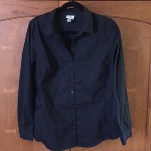 Worthington stretch women's 16 black shirt